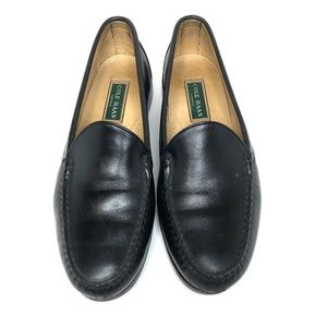 Cole Haan soft black leather slip on loafers 9.5E